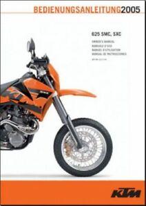 KTM 2005 625 SMC, SXC OWNER'S MANUAL   eBayeBay