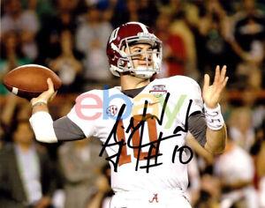 Details about AJ McCarron Autographed Signed Alabama Crimson Tide 8x10 Photo - White Jersey rp