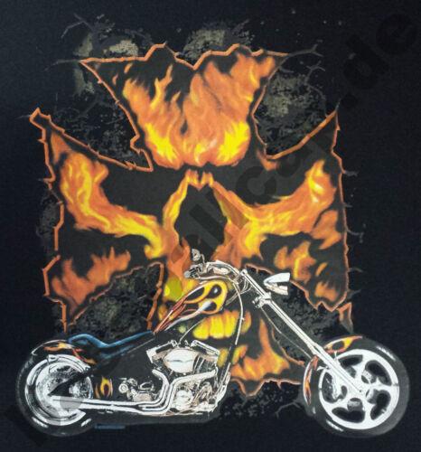 T-Shirt #762 BIKE FLAMES ROUTE 66 V8 USA CUSTOM BIKE MOTORRAD SKULL HOT ROD