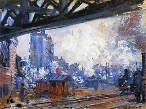 CLAUDE-MONET-GARE-SAINT-LAZARE-OLD-MASTER-ART-PAINTING-PRINT-POSTER-627OMA