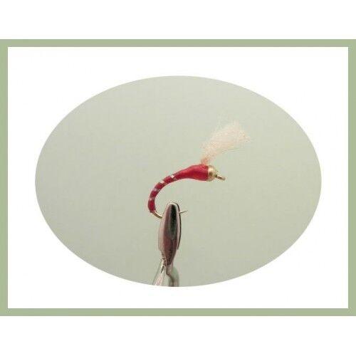 Goldhead rouge Buzzers 6 x UV Verre Rouge Époxy Buzzer choix de tailles pêche à la mouche