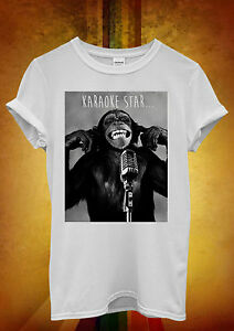 Monkey-Karaoke-Star-Bad-Hipster-Funny-Men-Women-Unisex-T-Shirt-Tank-Top-Vest-366