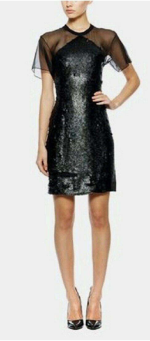Theyskens theory schwarz Sequin Dress EU36 worn once excellent condition