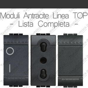 Bticino-living-compatibile-interruttori-pulsanti-e-prese-antracite-linea-TOP
