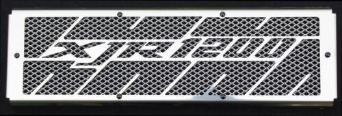 cache / Grille de radiateur inox poli 1200 XJR Kenny Roberts + grillage alu