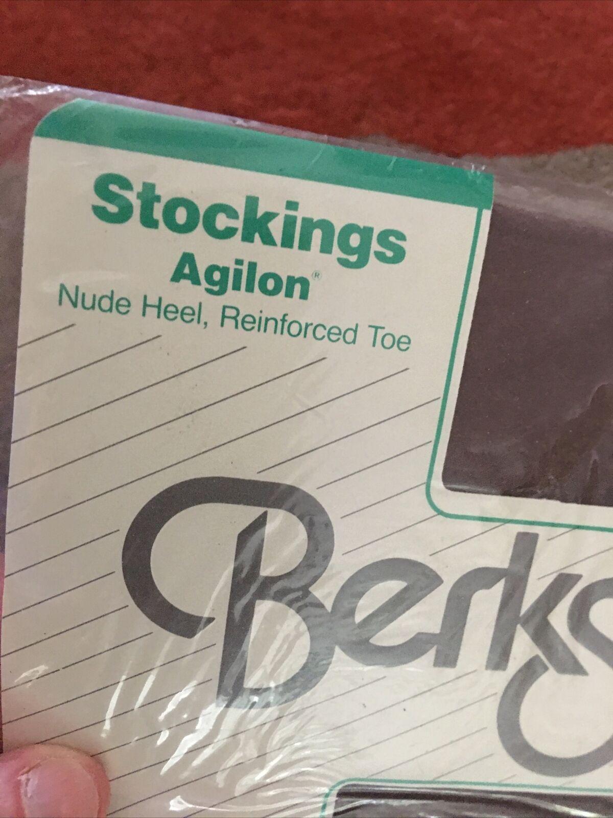 (1) Pr BERKSHIRE Stockings Nude Heel Reinforced Toe UTOPIA Stretch 2 NEW NOS