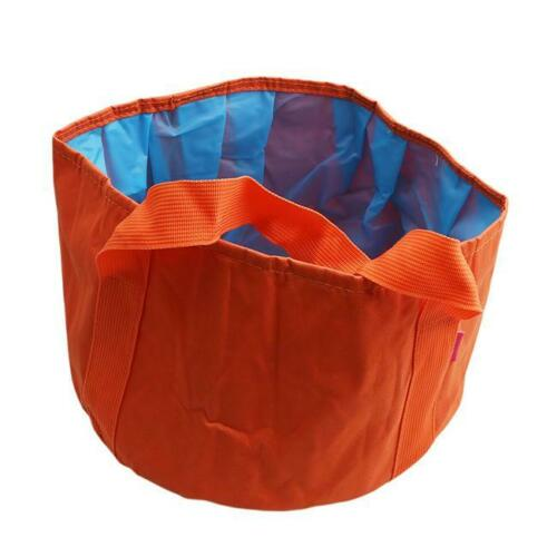 Portable Collapsible Wash Camping Folding Basin Bucket Picnic Camping Cookware W