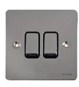 Eurolight 4Gang 10amp 2way switch Black nickel US21