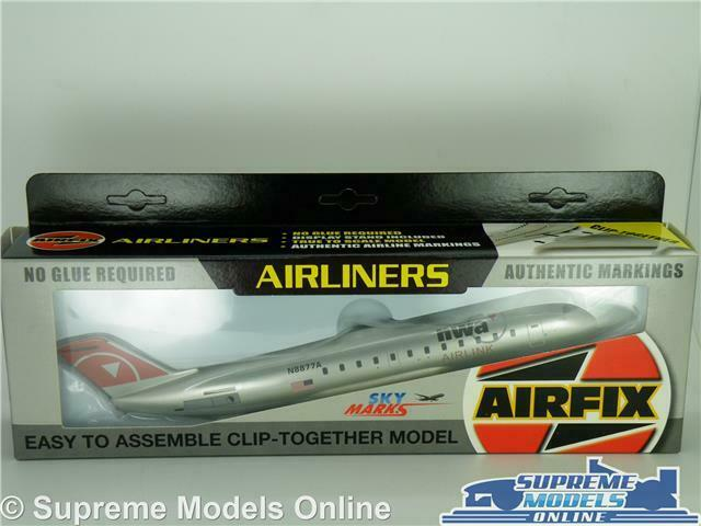 AIRFIX SKYMARKS AIRLINERS CRJ-200 NWA MODEL AIRCRAFT 1 100 SCALE SKR098 KIT K8