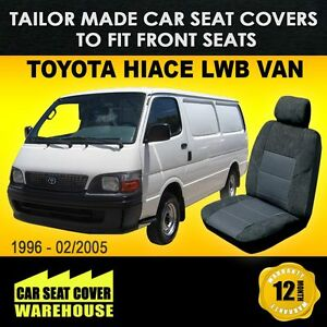 Car-Seat-Covers-To-Fit-TOYOTA-HIACE-LWB-VAN-Front-Seats-Charcoal-1996-2005