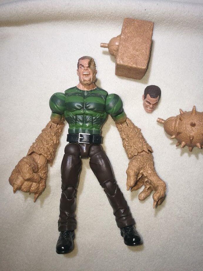 Hasbro Marvel Legends SANDMAN Build a Figure complete from Spider-man BAF