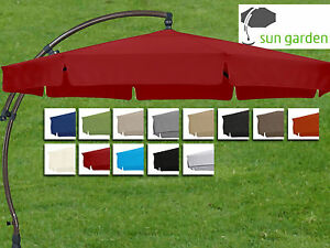 sun garden ampelschirm easy sun premium kd 350cm 13 farben polypropylene olefin ebay. Black Bedroom Furniture Sets. Home Design Ideas