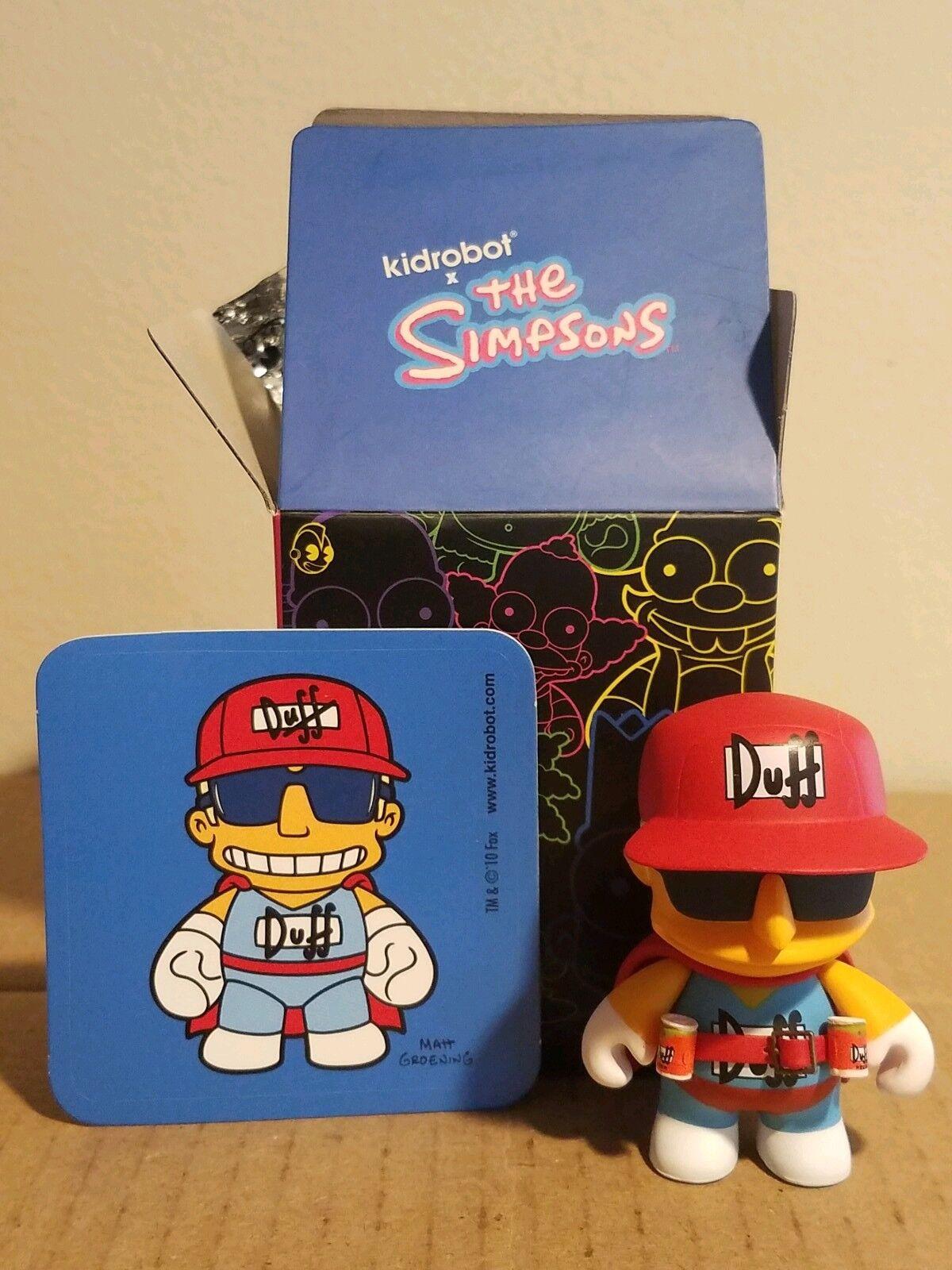 Kidrobot Simpsons Series 1 Duffman Duffman Duffman Vinyl Figure 463f61