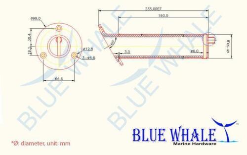 4PCS 316 S.S 30 Deg Mount Fishing Rod Pole Holders /& Drain BL30583269