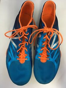 3e4d651c383 New Balance Mens 800 Running Shoes Spiked Sneakers Blue and Orange ...