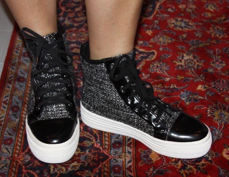 Steve Madden Madden Madden Jaackson Negro Multi Alta Top zapatillas Talla 7  tienda en linea