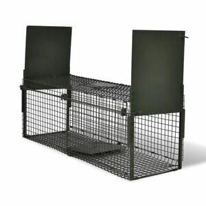Life Trap with 1 Door/ 2 Doors Animal Cage Catcher Pest Control Large Steel Mesh
