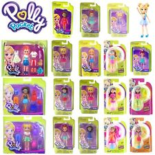 POLLY POCKET DOLL TRENDY OUTFIT ACCESSORIES 9cm ACTIVE DOLLS NEW SHANI LILA SET