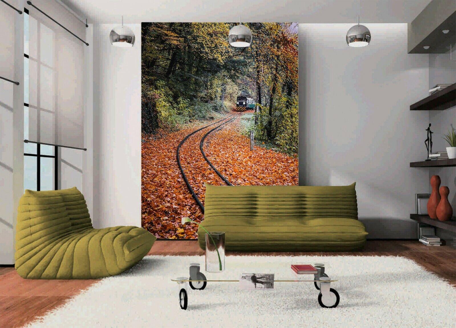 3D Maple Leaf Railway R12 Transport Wallpaper Mural Sefl-adhesive Removable Zoe