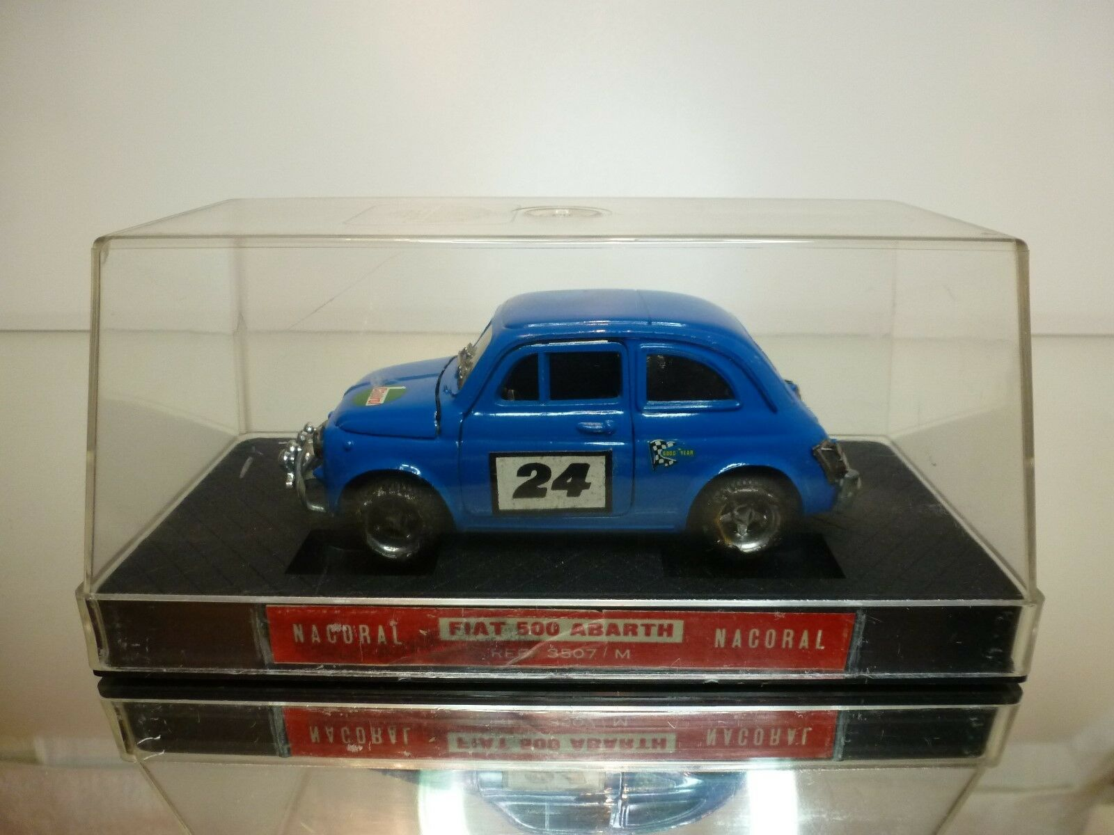 NACORAL 1 25 - FIAT 500 RALLY  ABARTH  - EXTREMELY RARE - EXCELLENT IN SHOW CASE