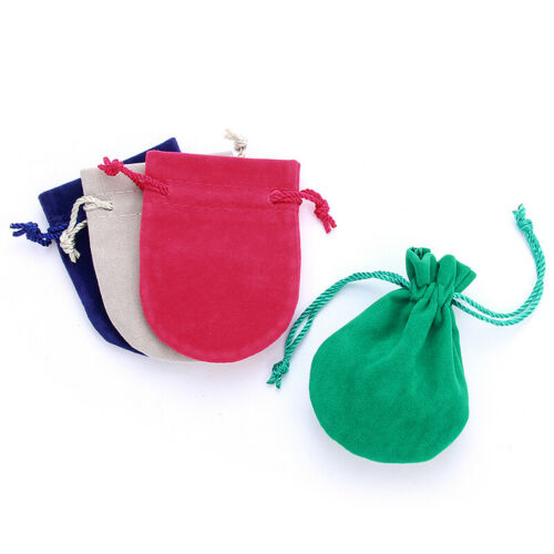 Wholesale 10Pc//Lot Velvet Jewelry Xmas Gift Bag Drawstring Pouches Packaging Bag