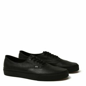 Vans Shoes Authentic Leather Black USA SIZE Mens Skateboard Sneakers
