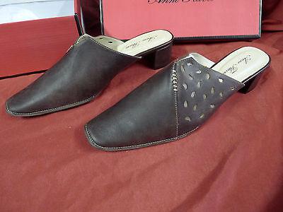 ANNE FLAVOUR Damenschuhe Schuhe Pumps Pantoletten Gr.38 dunkelbraun echtes Leder