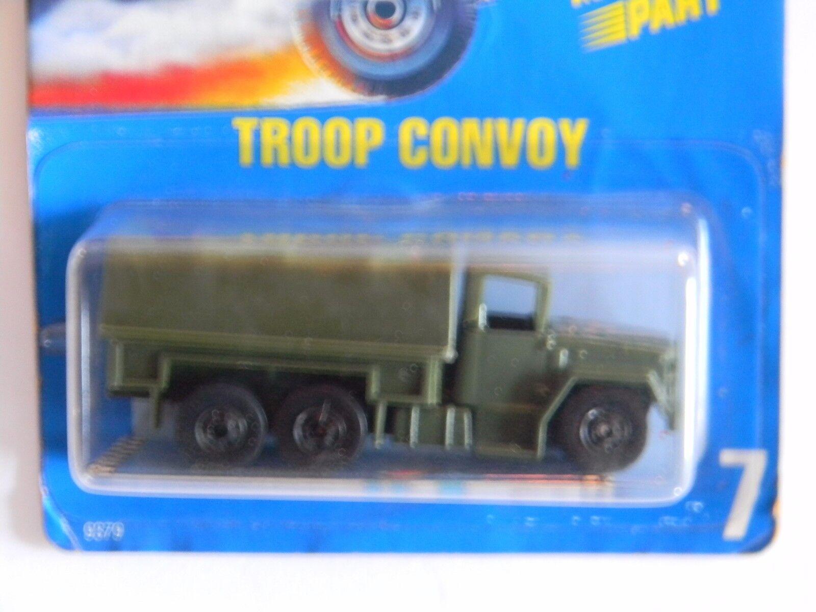 el estilo clásico Muy raros-Troop convoy-Tarjeta convoy-Tarjeta convoy-Tarjeta Azul -  7 - hot Wheels-RARE-ORIGINAL-muy difícil de encontrar  forma única