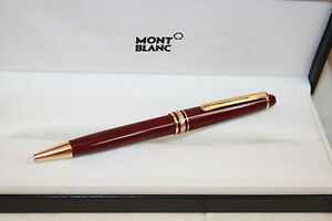 Image Is Loading MONTBLANC MEISTERSTUCK BORDEAUX BALLPOINT PEN 164R NEW IN