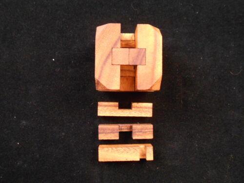 Diamond Cube brain teaser  Wood puzzle