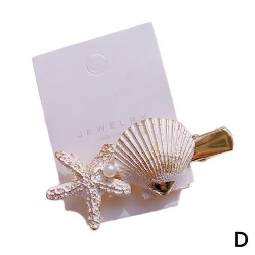 Sea Star Kristallperlen-Haarspange Meer Hochzeit Boho Goth Braut Hairpin J0L9