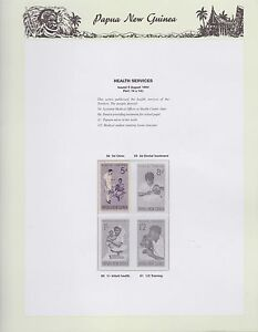 1964-PNG-PAPUA-NEW-GUINEA-Health-Services-STAMP-SET-K-407