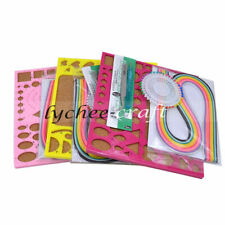 1set Art Paper Quilling Tool Pen Mould Needle Tweezer Papers Handcraft Random