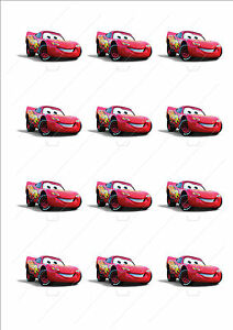 Image Is Loading Novelty Lightning Mcqueen Cars Stand Up Cake Cupcake