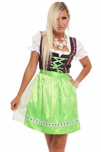 4211 Dirndl 3 tlg.Trachtenkleid Kleid Mini Bluse Schürze Trachten Oktoberfest