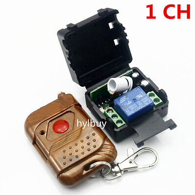 DC 12v 10A relay 1CH wireless RF Remote Control Switch Transmitter+ Receiver