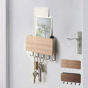 Wooden Wall Mounted Hanging Hanger Hooks Key Holder Storage Rack Organizer