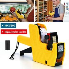 Mx 5500 8 Digits Price Tag Gun Labeler Labeller With Sticker Labels Refill Ink
