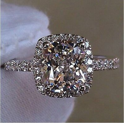 Brand Twinkle Jewelr Silver White Sapphire Wedding Ring Size 6-9