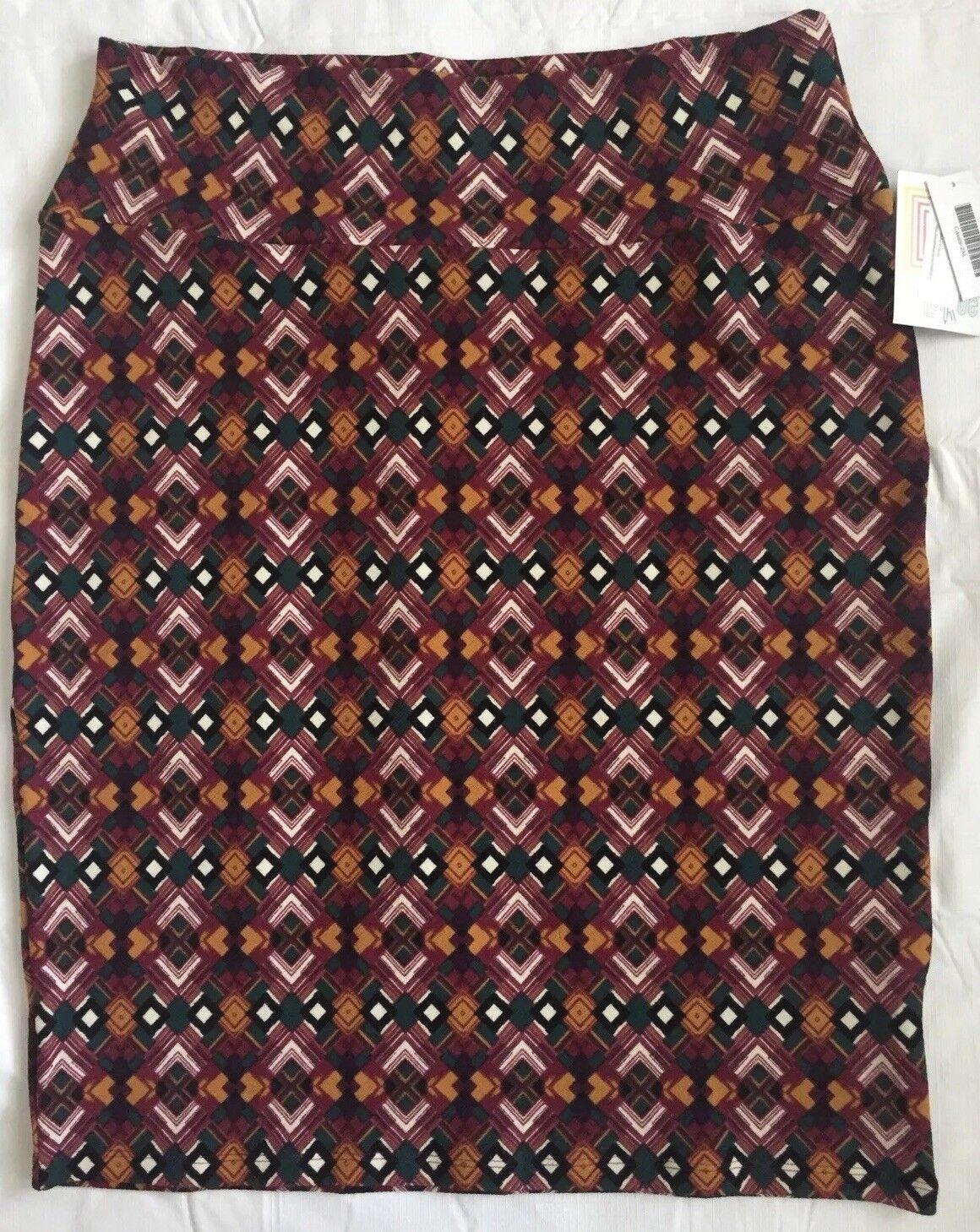 412f3a7bd1d30 LulaRoe Cassie Knee Length Pencil Skirt Size Multicolor Straight Stretch  NWT 2XL ovnbzc5670-Skirts