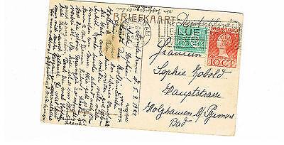DemüTigen Niederlande Saubere Farb-ak Aus Amsterdam 1921 Dinge FüR Die Menschen Bequem Machen Briefmarken