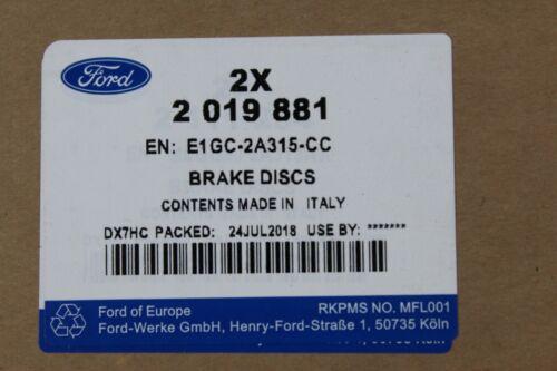Original Bremsscheiben hinten Ford S-Max Galaxy ab Baujahr 1//2015 2019881