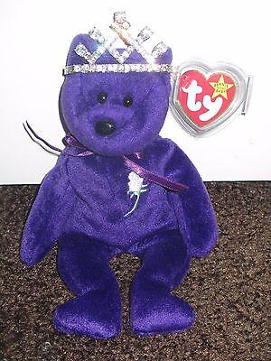 1997 Princess Diana Ty Beenie Baby With Crown Ebay