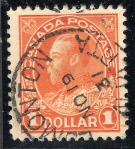 Canada King George V Admiral Issue, #122 Used VF CDS Edmonton No 19 '31 Alberta