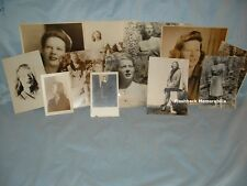 (12) 1940s PHOTOGRAPHS Young Lady MODELING PORTRAITS Sepia B&W Portfolio AGENCY