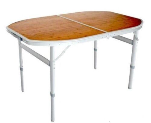 Camingtisch Tisch Klapptisch Falttisch Gartentisch Holz Bambus Alu 120x80 cm neu