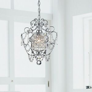 Crystal chandelier dining room lighting foyer small - Small bathroom chandelier crystal ...