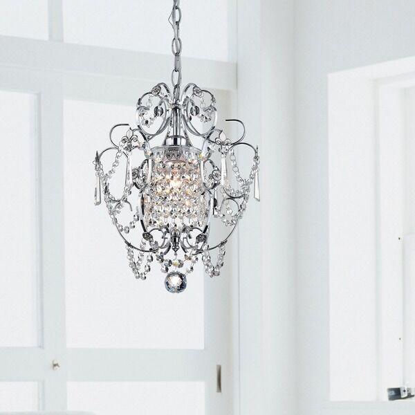 Crystal Chandelier Light Fixture Lighting Small Pendant Dining Room Foyer Chrome For Online Ebay