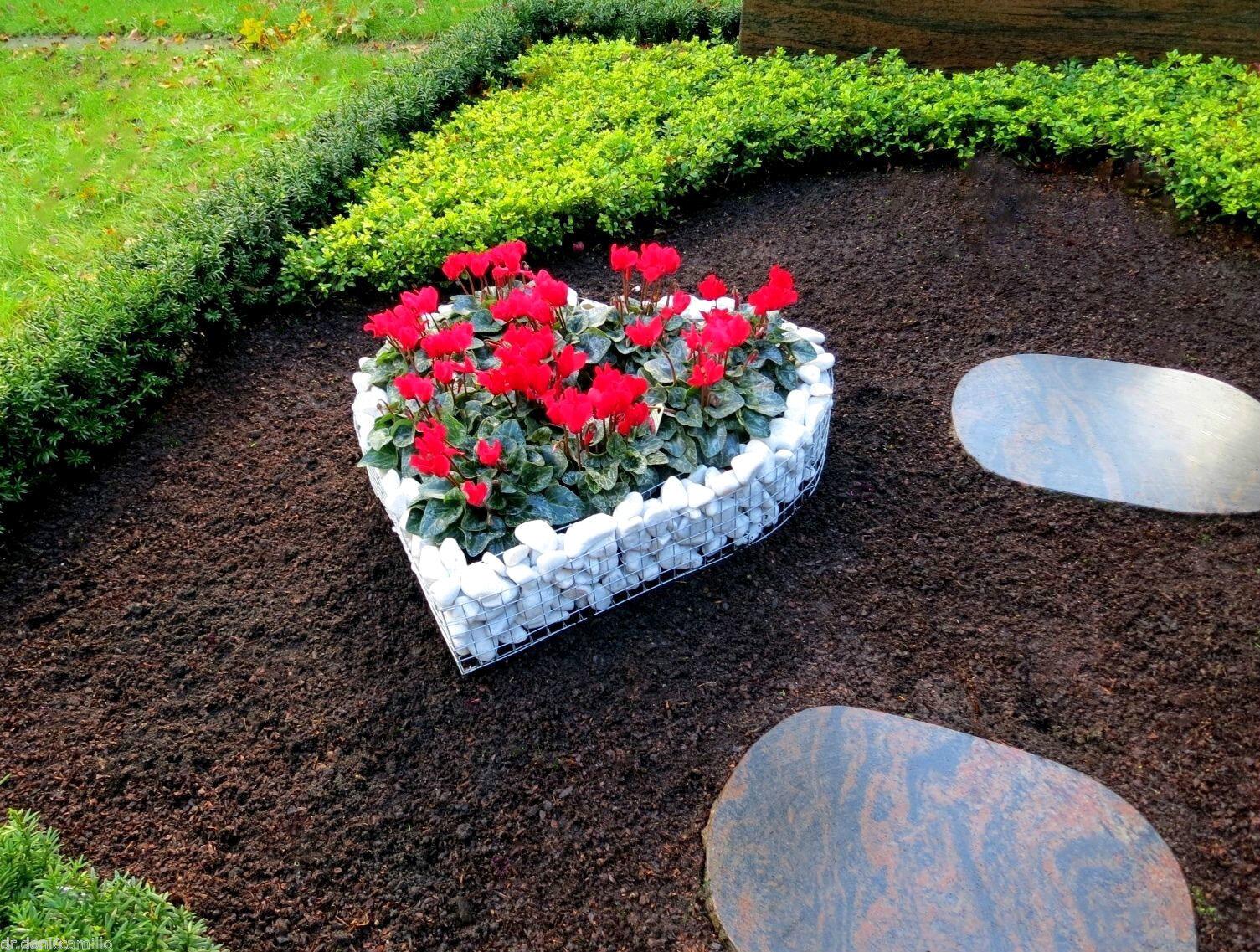 Tumba corazón 44x41x10 & grava tumba diseño tumba corazón tumba cásCochea Heart Ángel Flores
