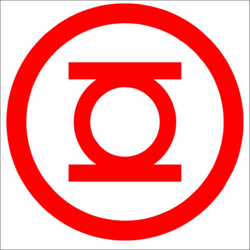 Green Lantern Decal Choose Color /& Size Red Yellow Lantern Corp Sticker